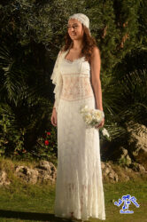 vestido novia ibicenco totblancbenidorm
